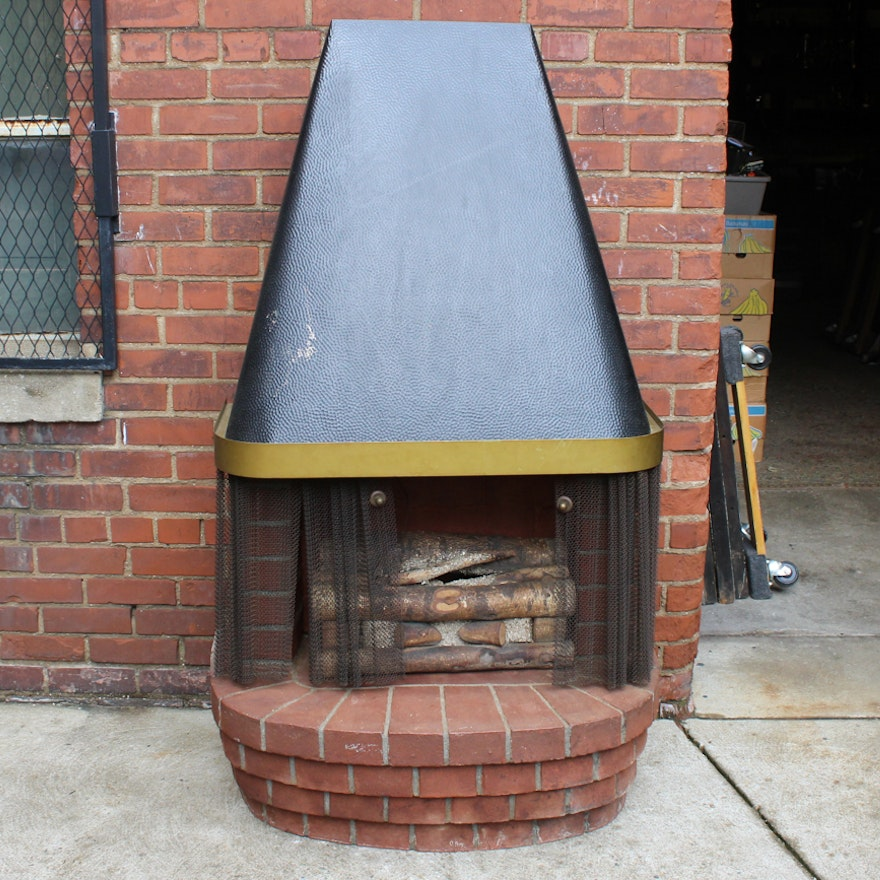 Vintage Mid Century Modern Electric Fireplace Ebth
