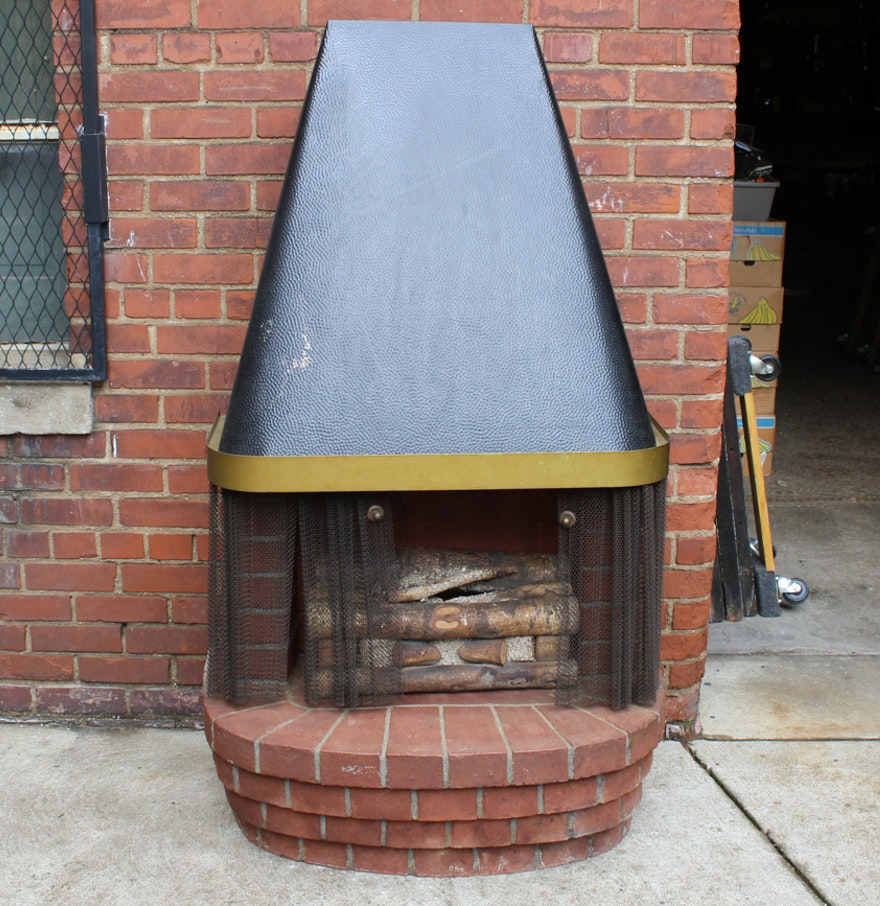 Vintage Mid Century Modern Electric Fireplace Ebth