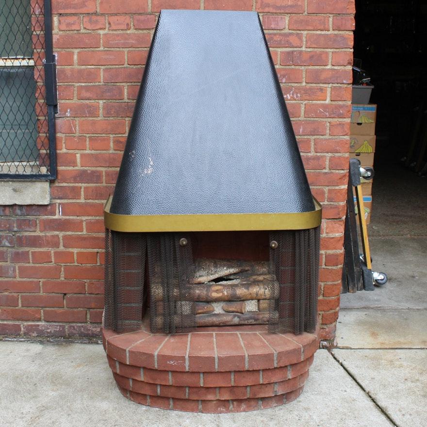 Mid Century Modern Fireplace: Vintage Mid-Century Modern Electric Fireplace