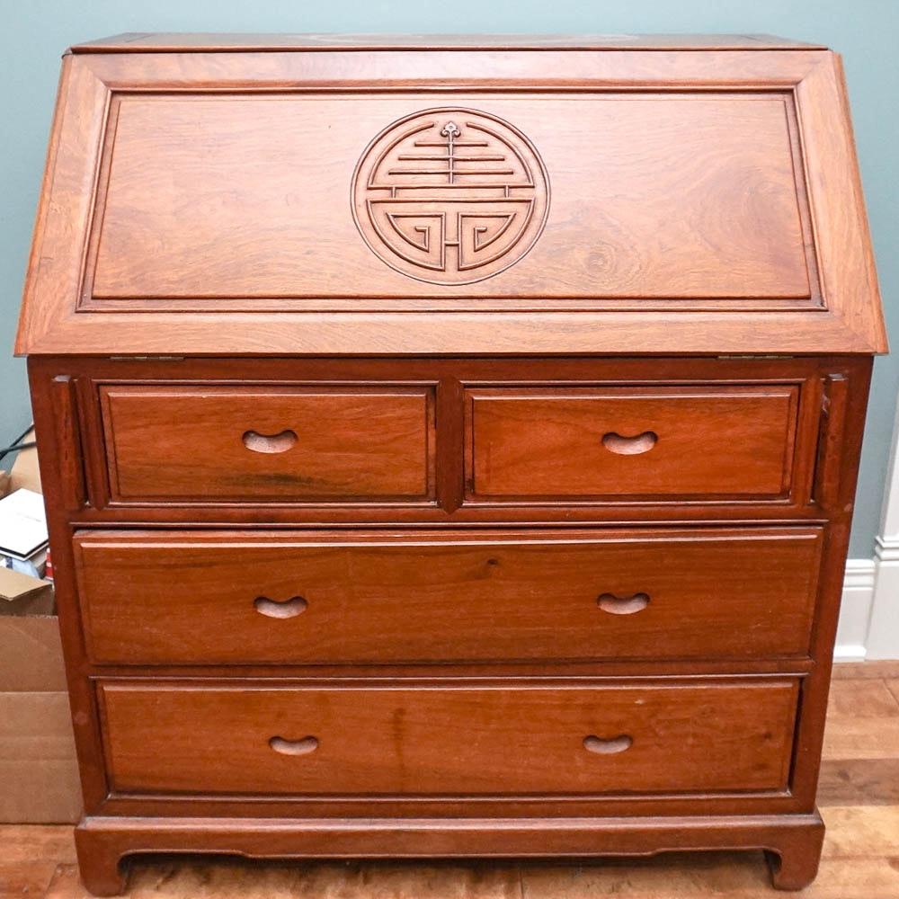 Chinese Oak Secretary Desk