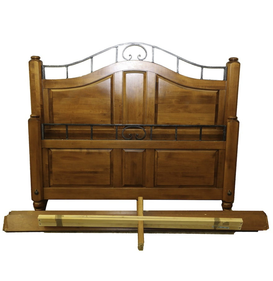 Ethan allen country crossings queen size bed frame ebth - Ethan allen queen beds ...