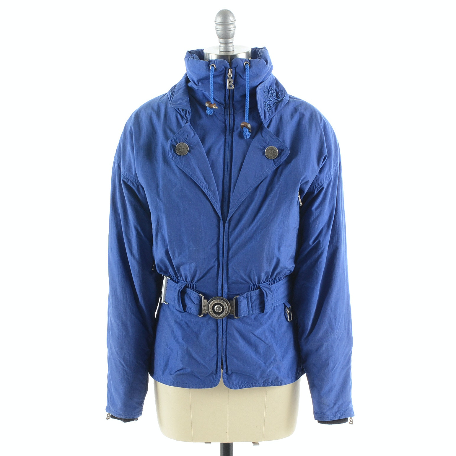 Bogner Ski Jacket in Blue with Embroidery