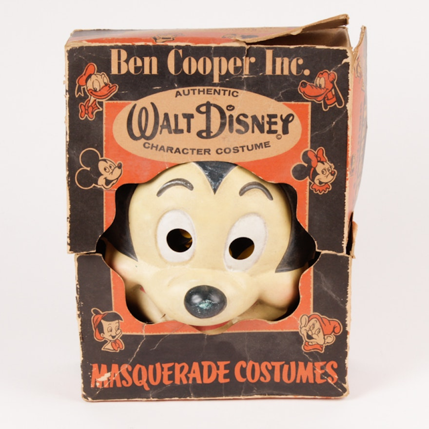 Vintage Halloween Costumes In A Box.Vintage Ben Cooper Walt Disney Mickey Mouse Halloween Costume