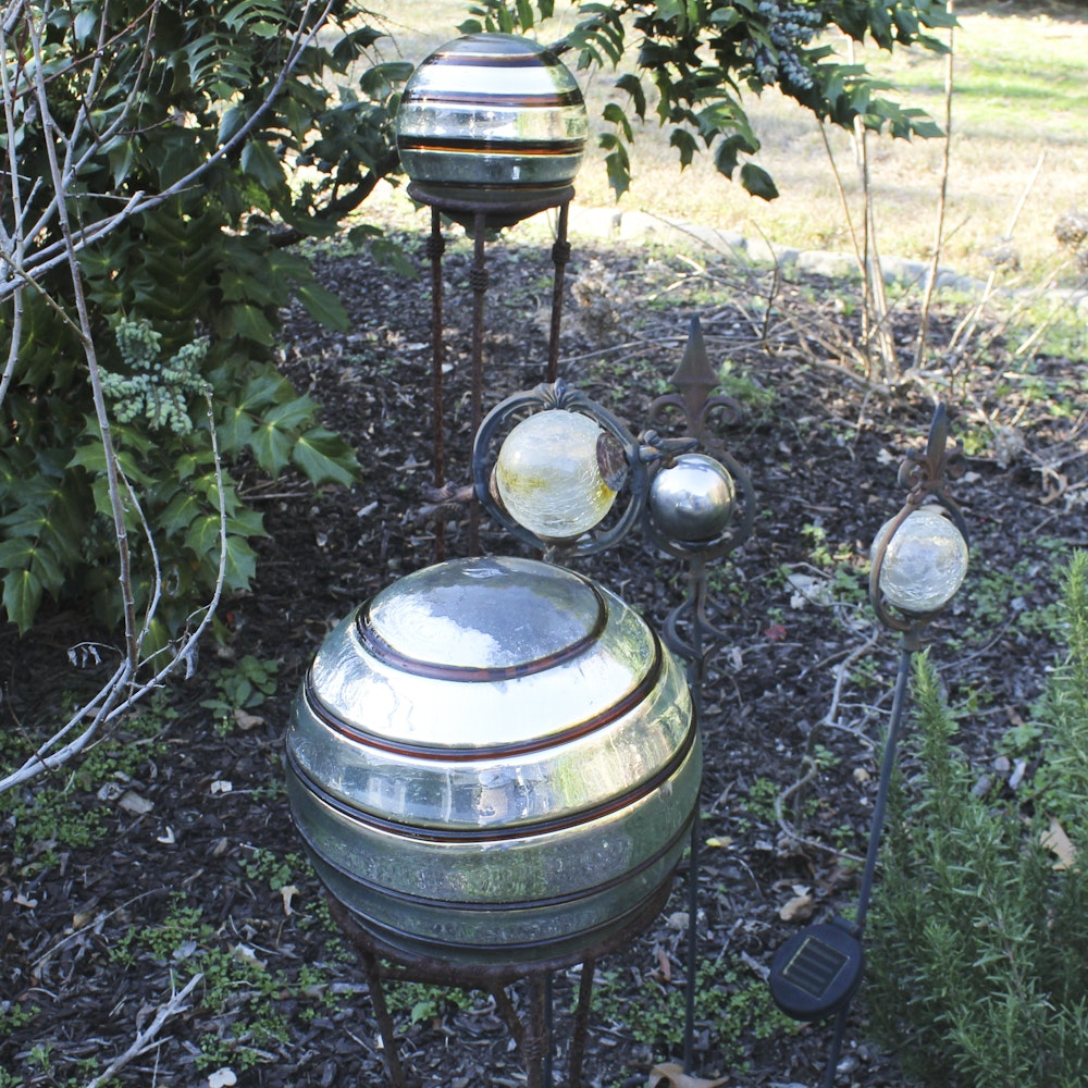 Collection Of Garden Orbs ...