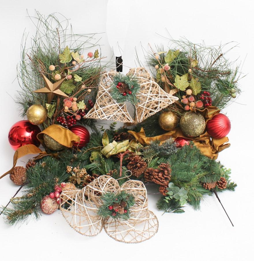 Christmas garland and centerpiece ebth