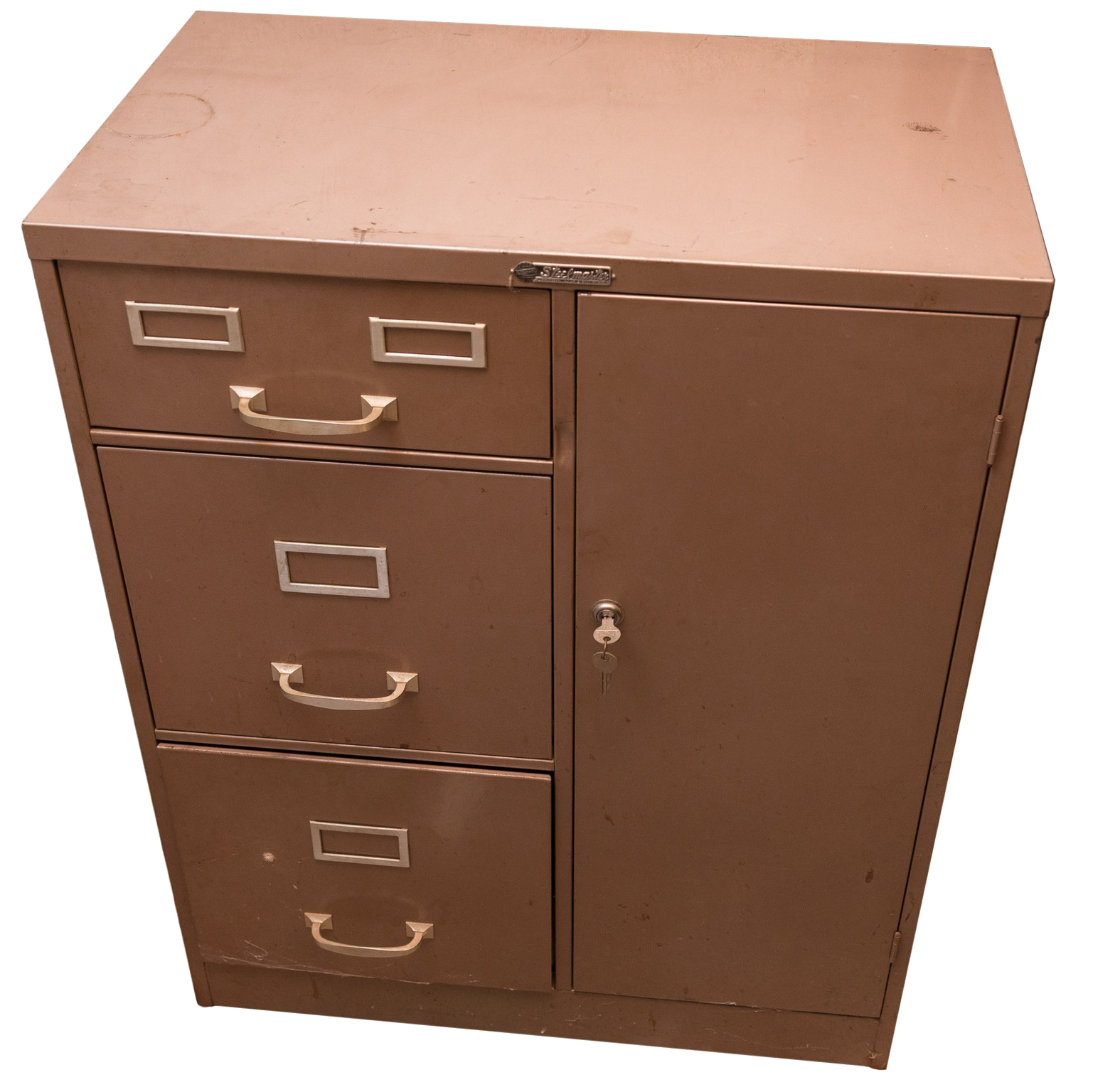 Vintage Steelmaster Metal Office Cabinet With Safe : EBTH