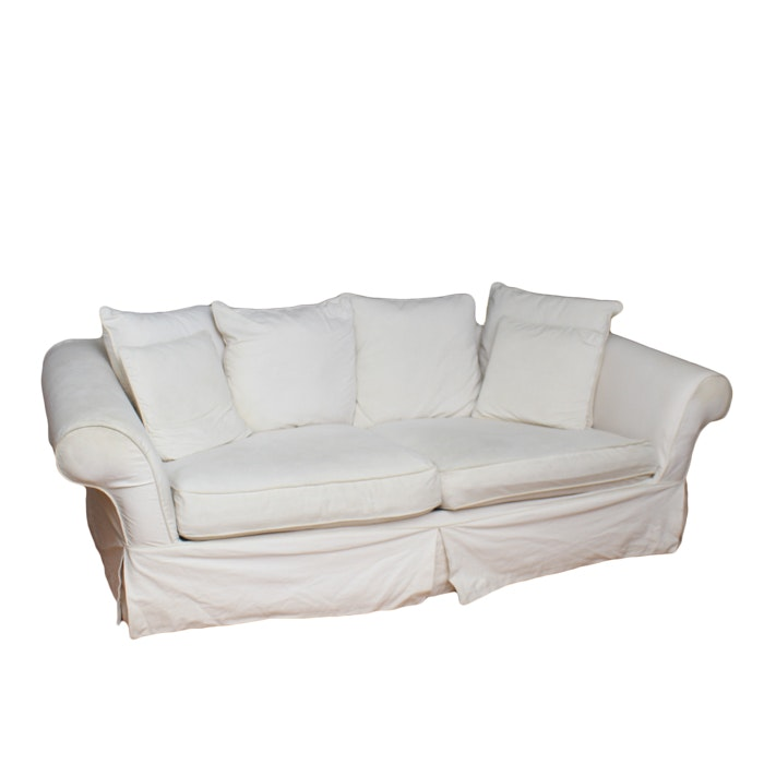 H m richards sofa with slip cover ebth for Edit 03 sofa