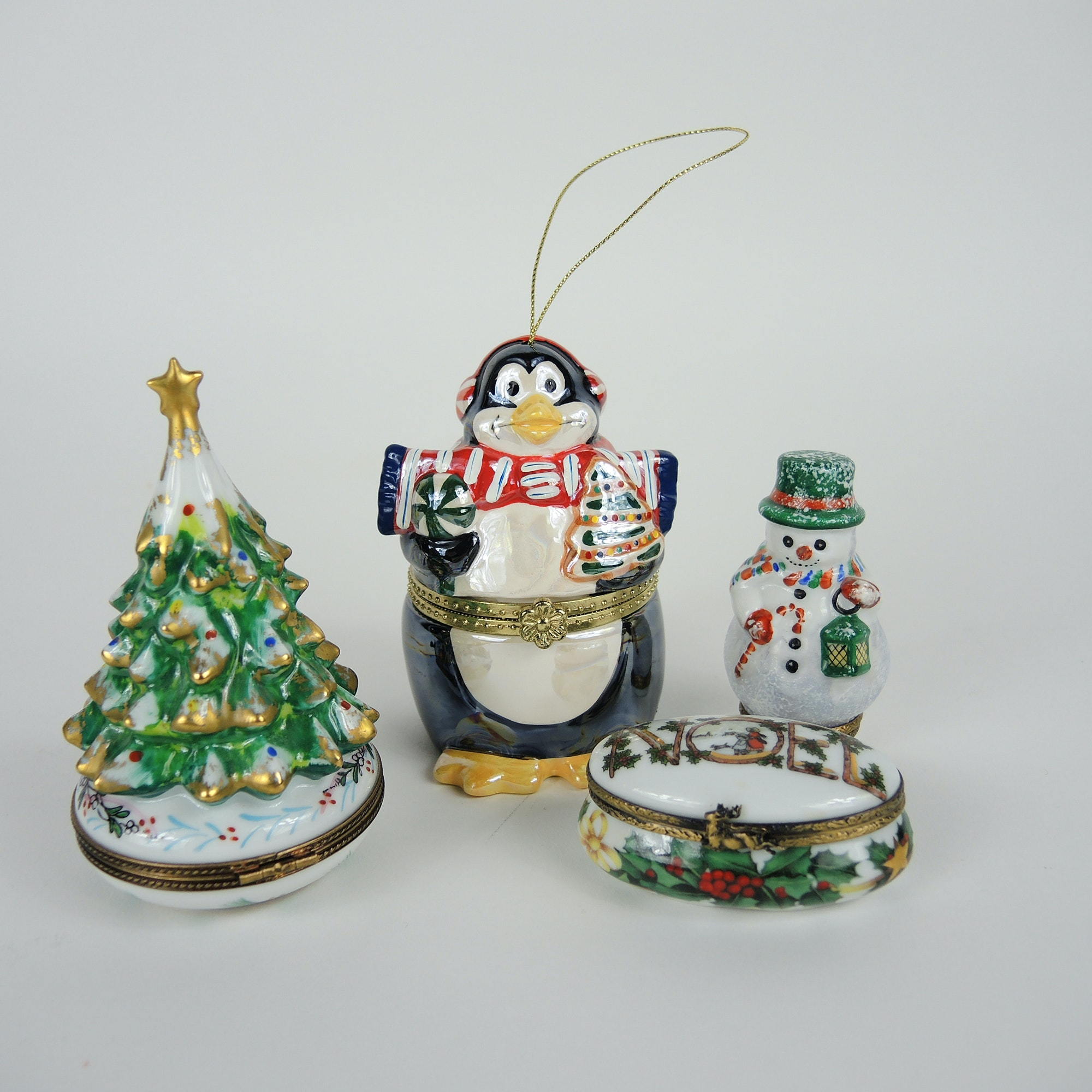 Christmas Themed Limoges Boxes