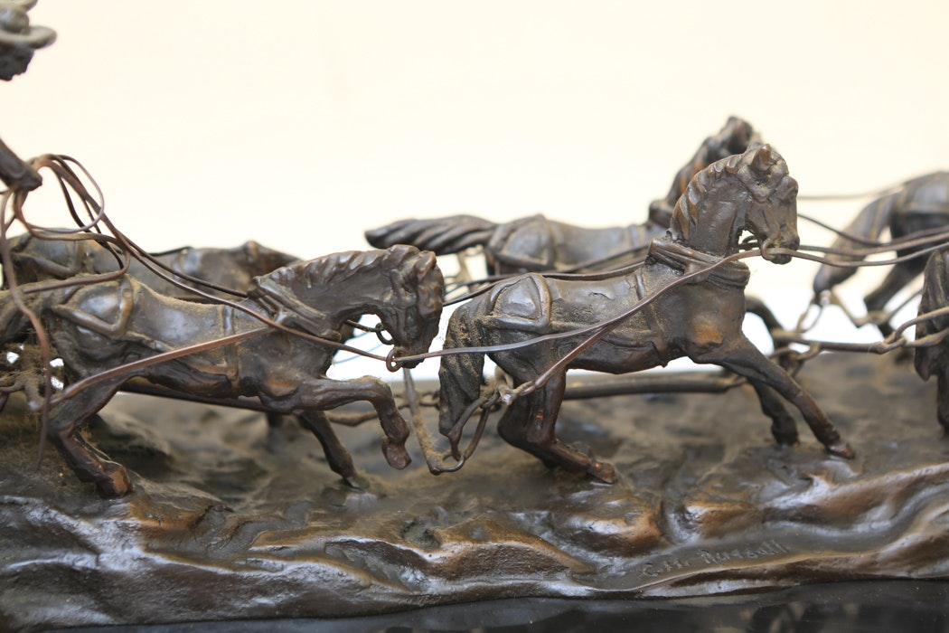 C M Russell Reproduction Bronze Quot Stagecoach Quot Ebth