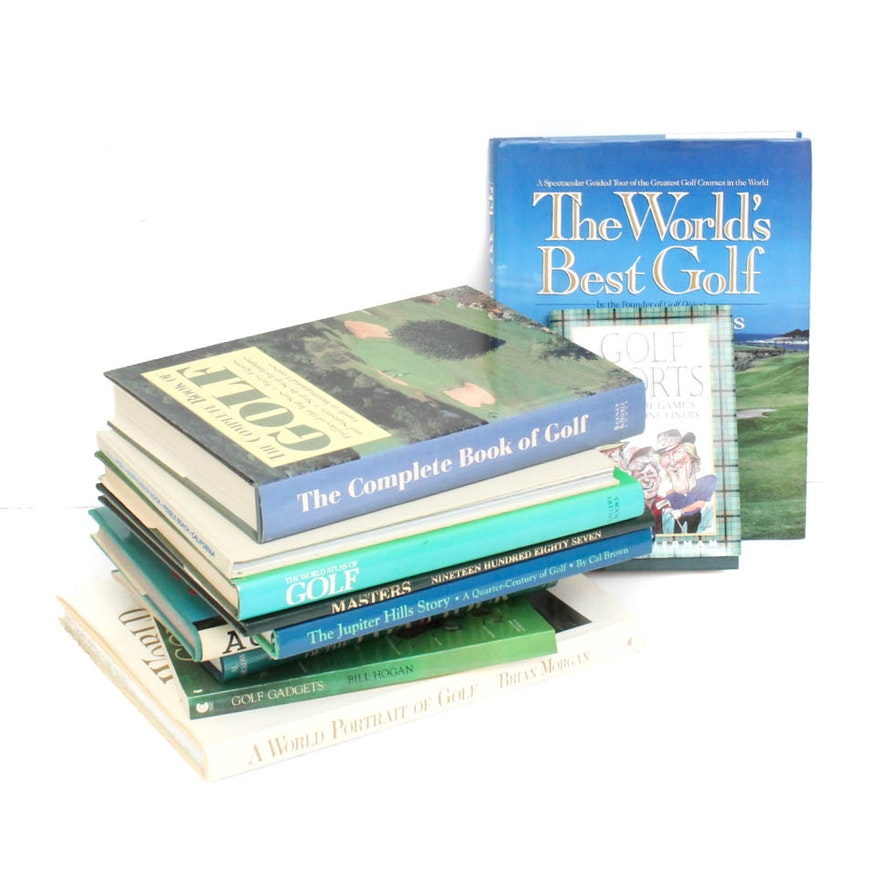 Strange Grouping Of Golf Themed Coffee Table Books Gmtry Best Dining Table And Chair Ideas Images Gmtryco
