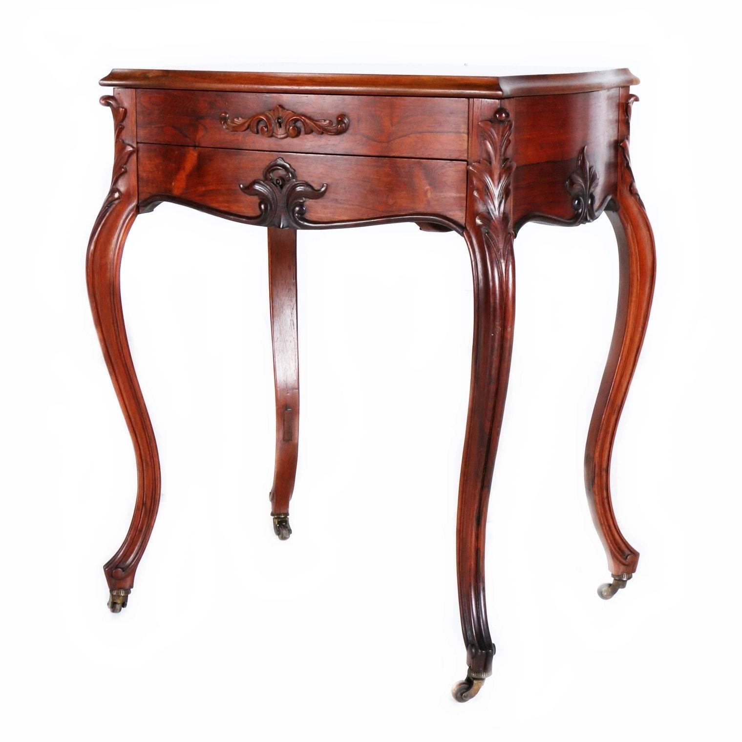 Early 20th Century Rosewood Vanity