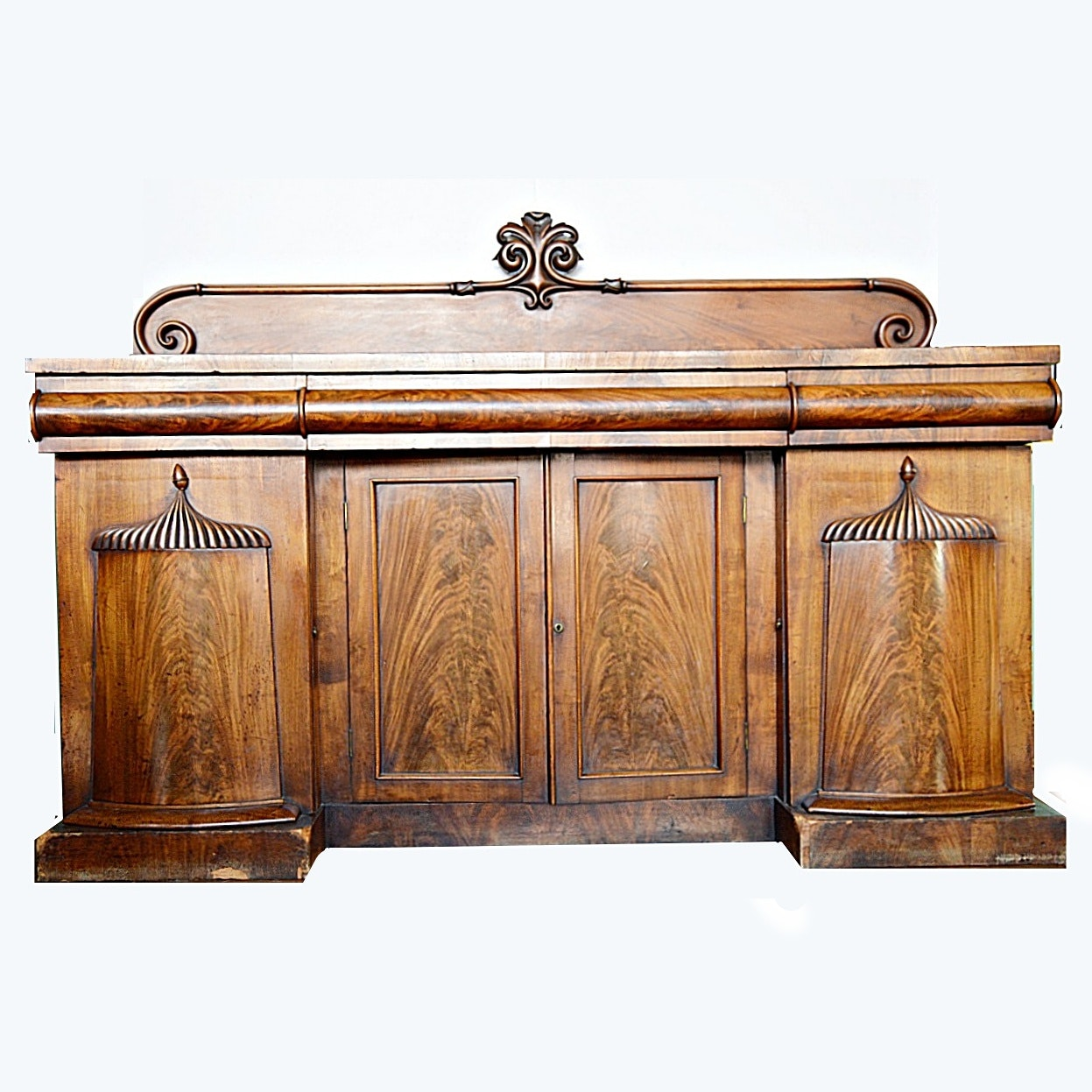 Antique Late Victorian Flame Mahogany Sideboard