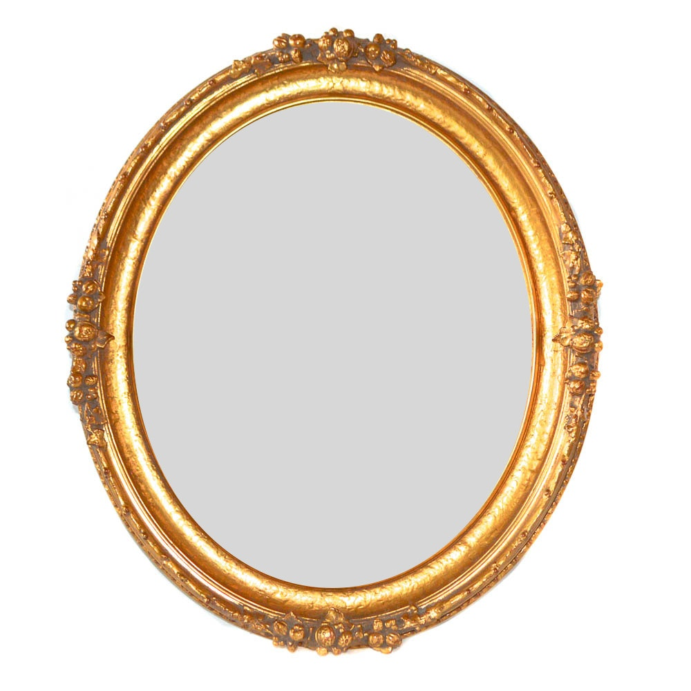 The Bombay Company Carved Oval Mirror