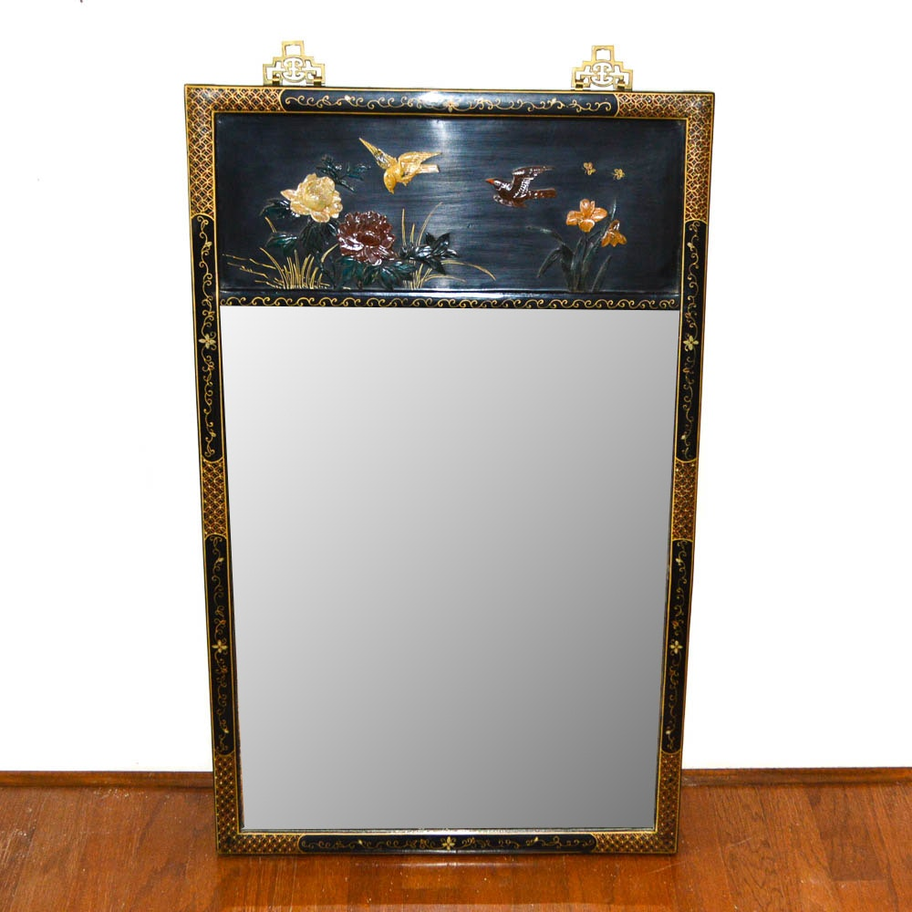 Chinoiserie Style Wall Mirror