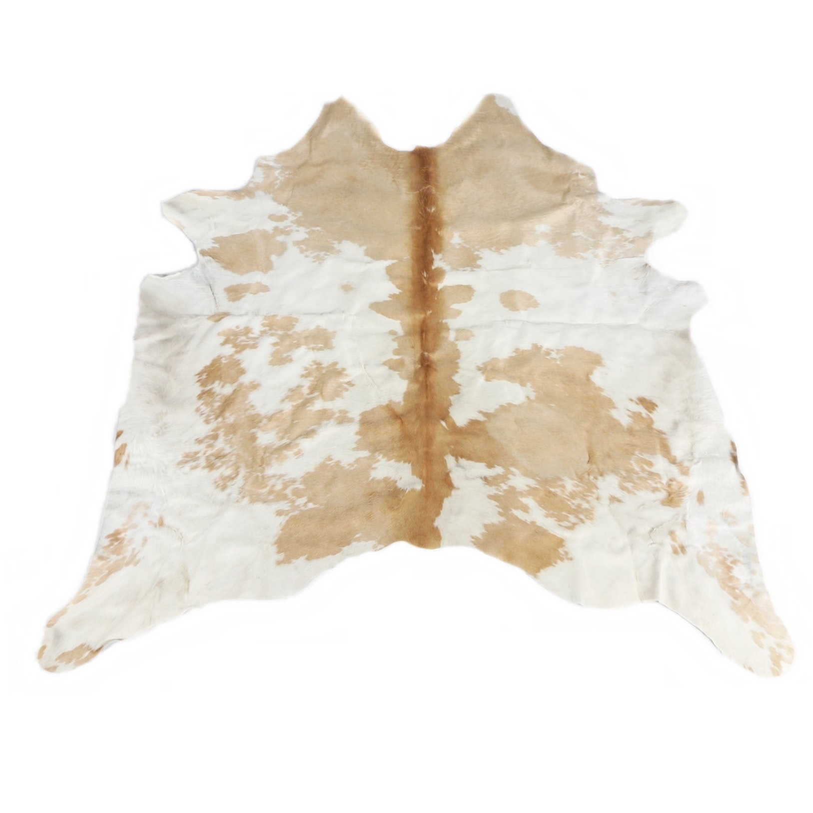 Creme and Caramel Natural Cow Hide Area Rug from Arhaus