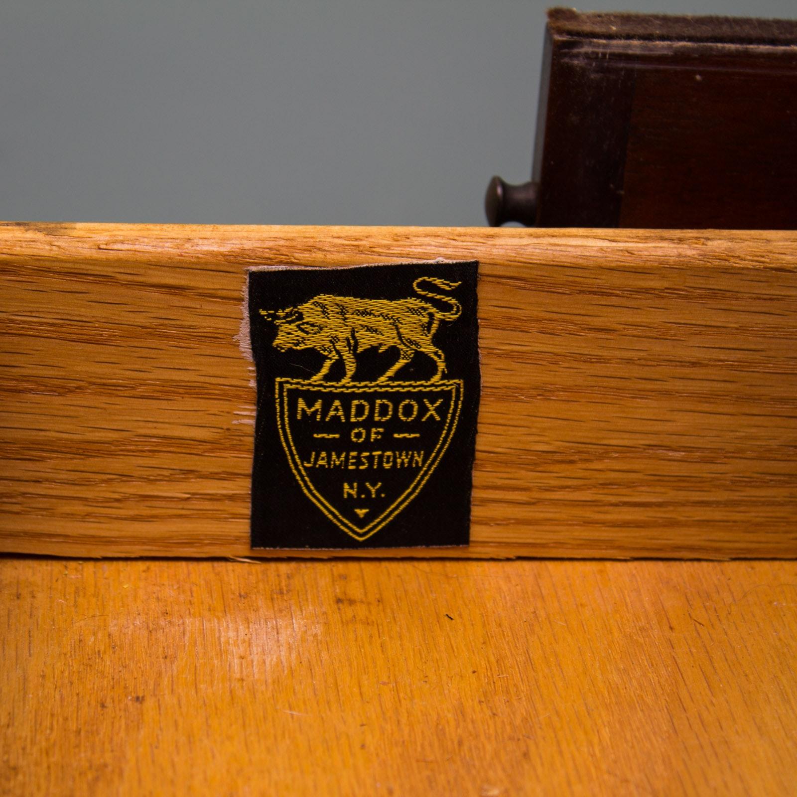 Vintage Mahogany Drop Front Secretary Desk By Maddox Table