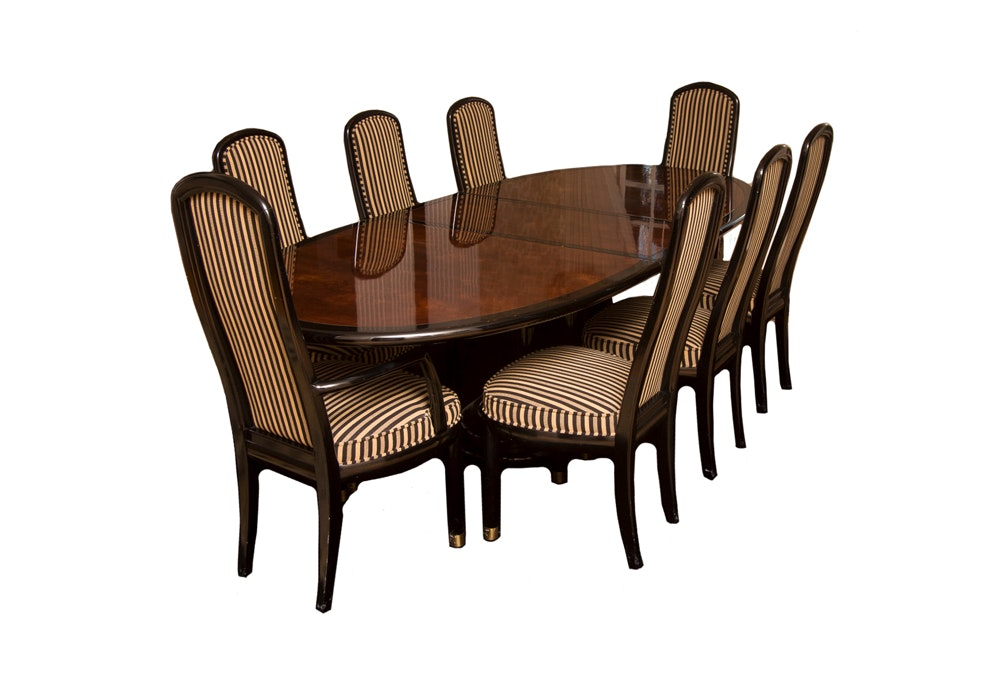 "Henredon ""Scene III"" Dining Table and Chairs EBTH"