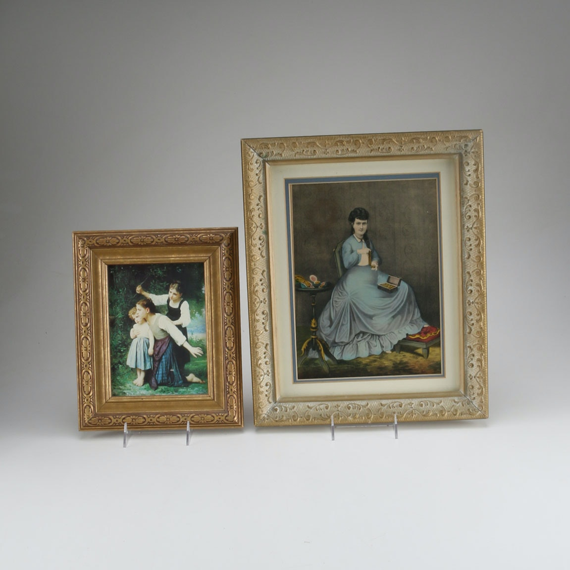 Pair of Framed Victorian Themed Prints