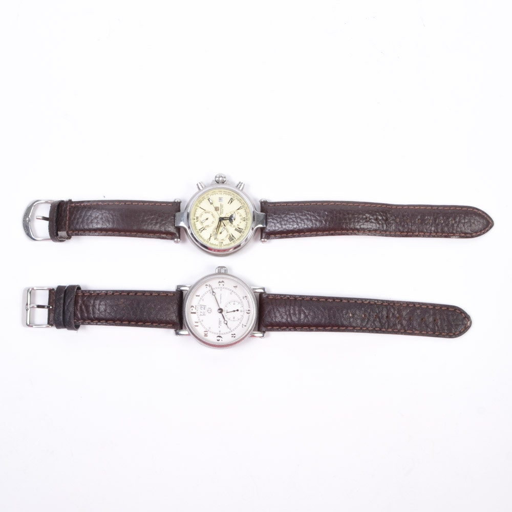 Pair of Skeleton Case Back Men's Wristwatches Made in China