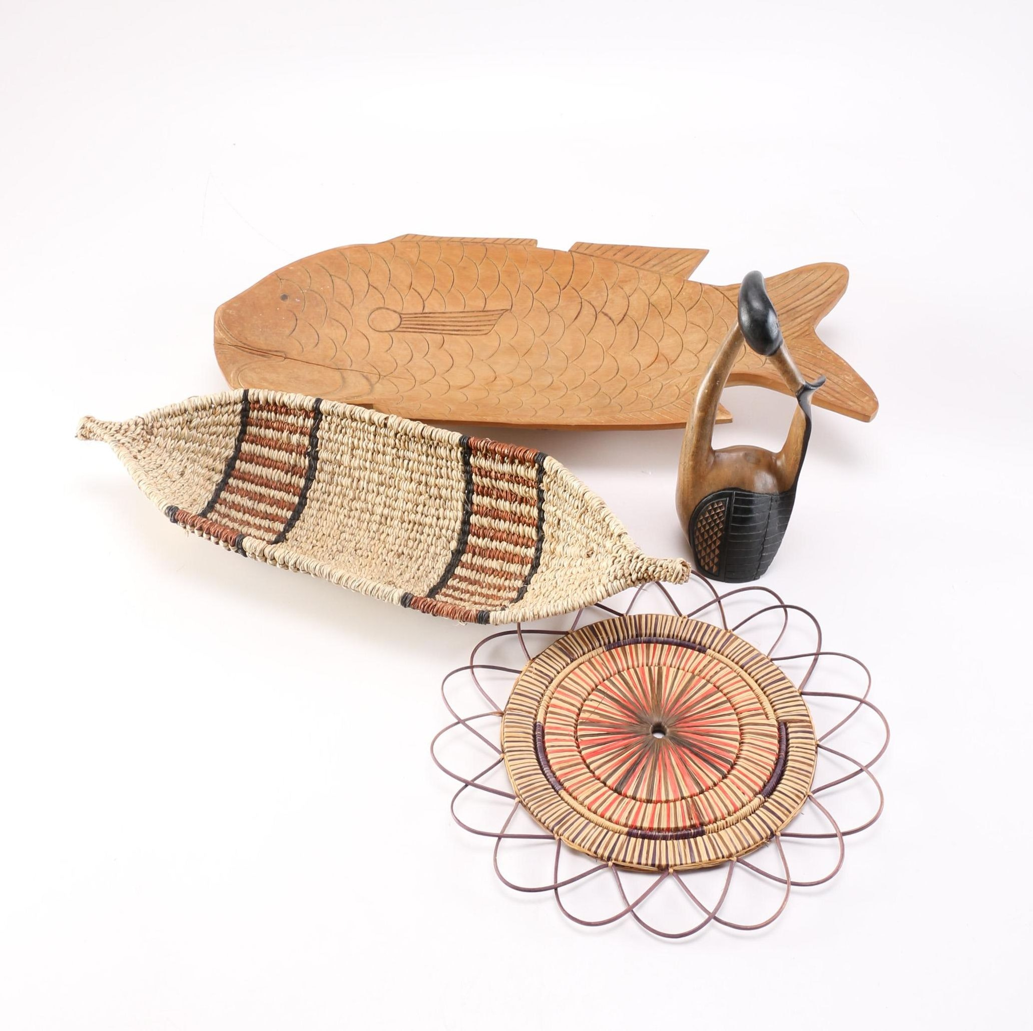 Handmade Wooden and Basket Decor