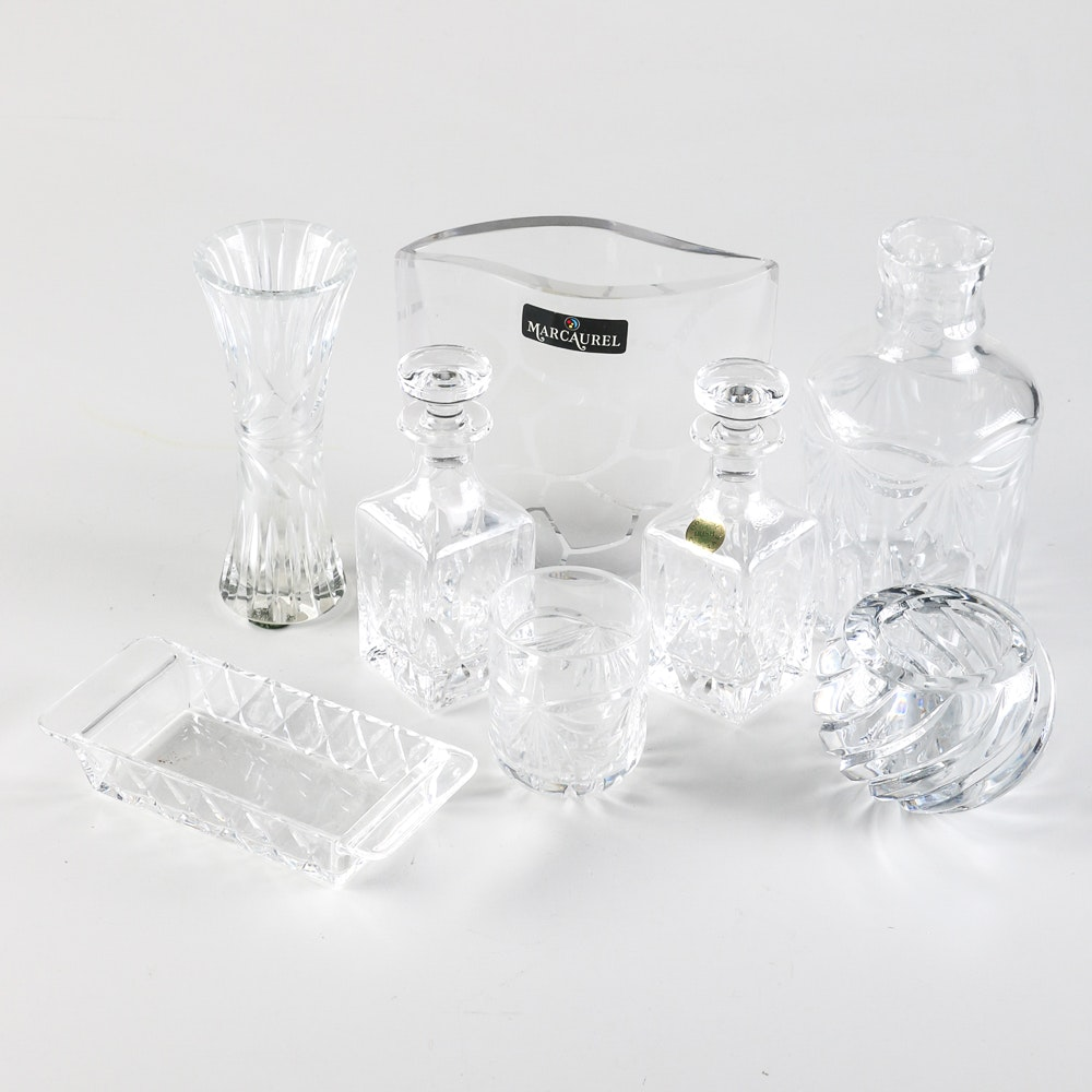 Collection of Crystal Decanters and Decor