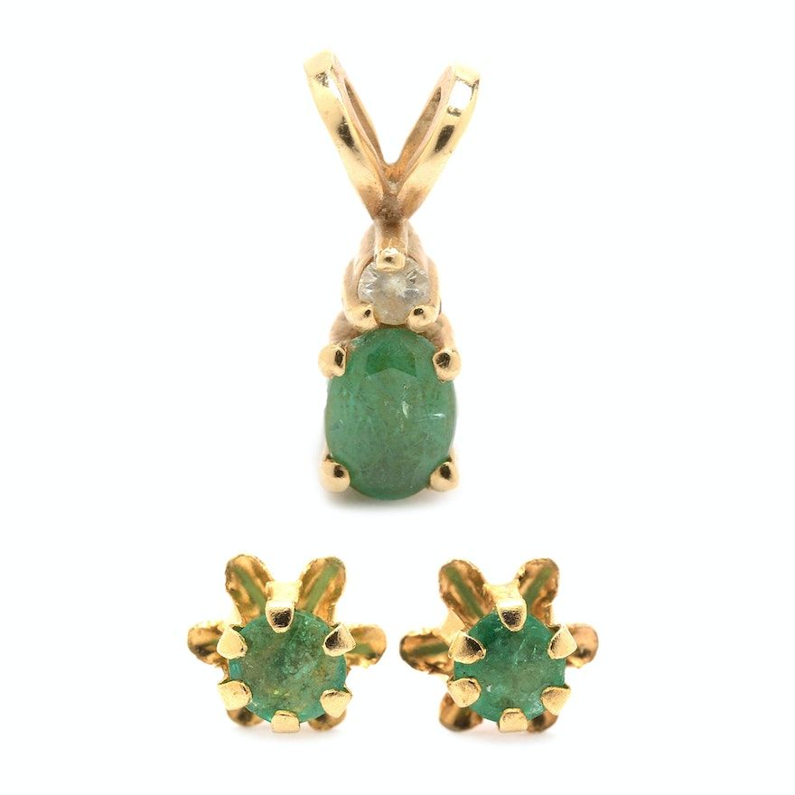 gold solid shape fine emerald yellow lanmi natural pin snak for jewelry diamonds pendant