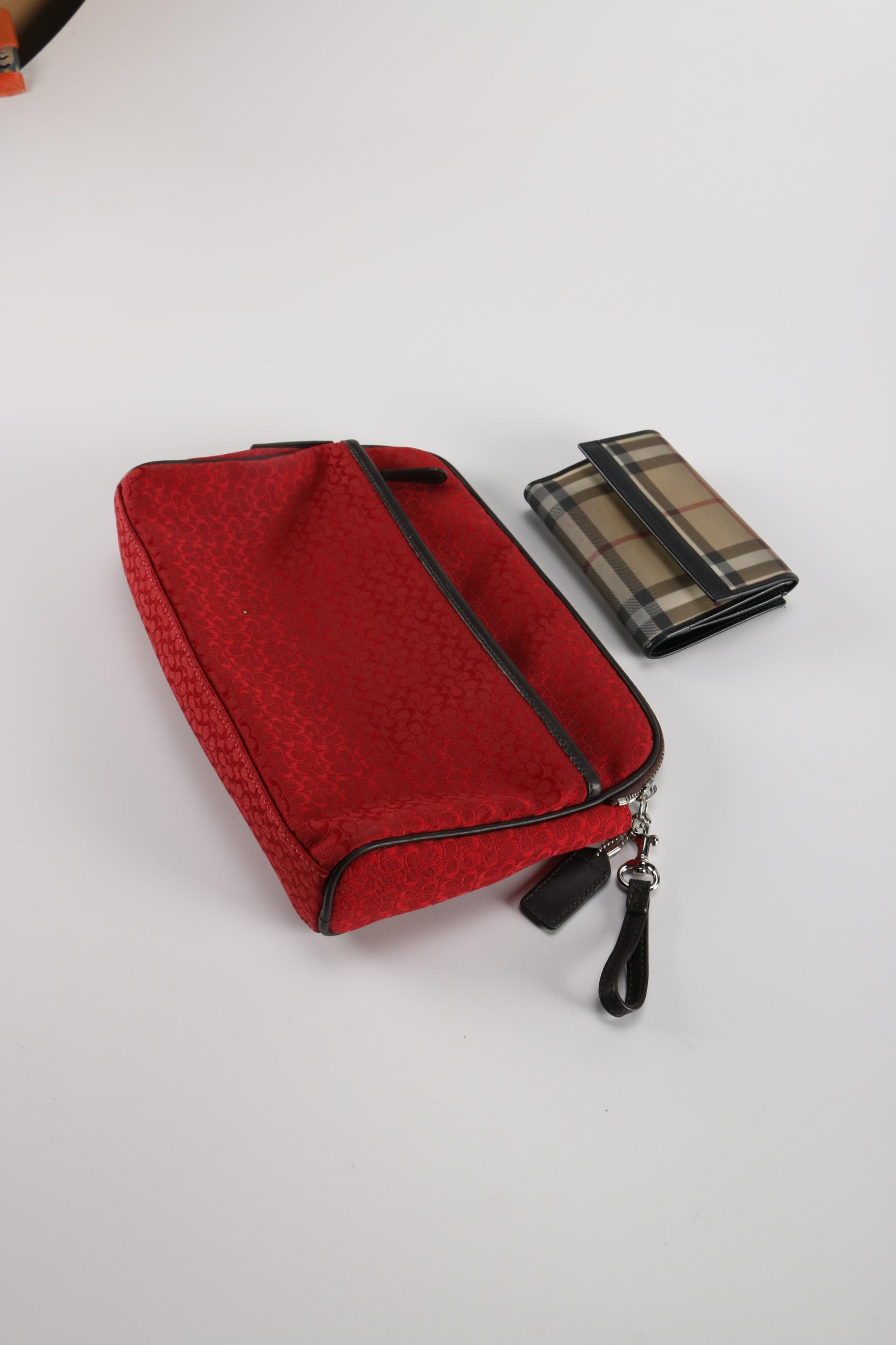 Coach Bag and Burberry Wallet