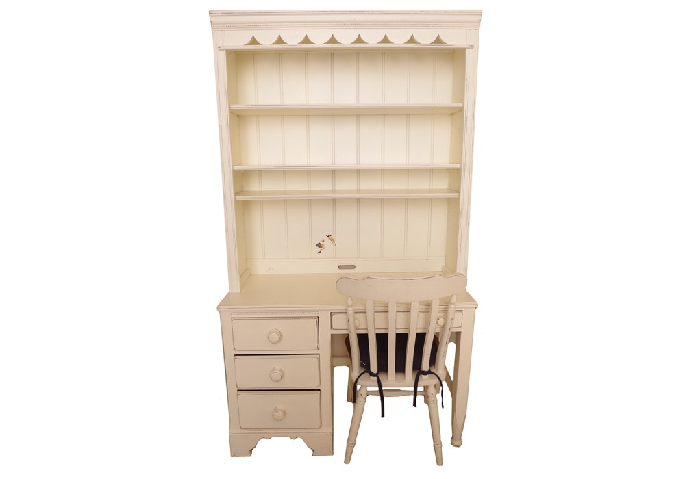 Lexington Furniture Farmhouse Style Desk With Hutch And Chair ...