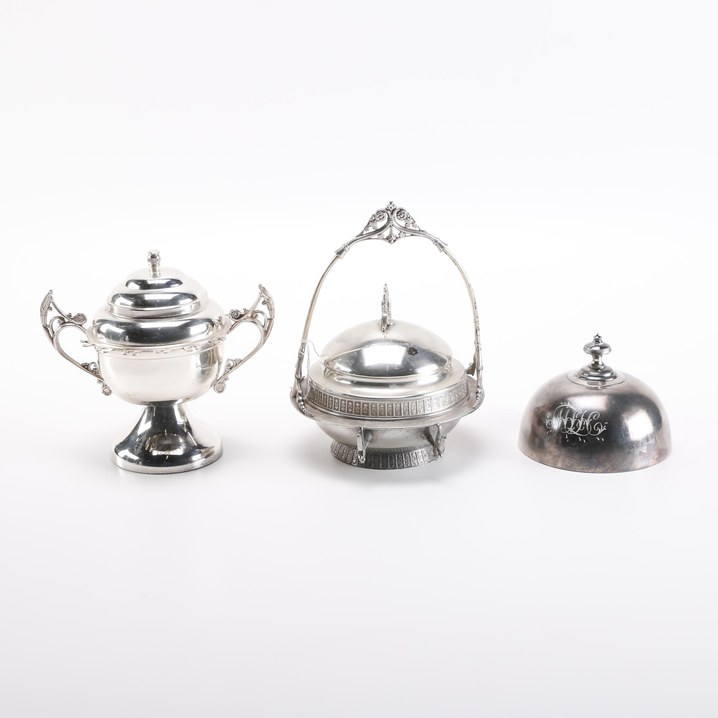 Simpson, Hall, Miller & Co. and Other Silver Plate Servingware
