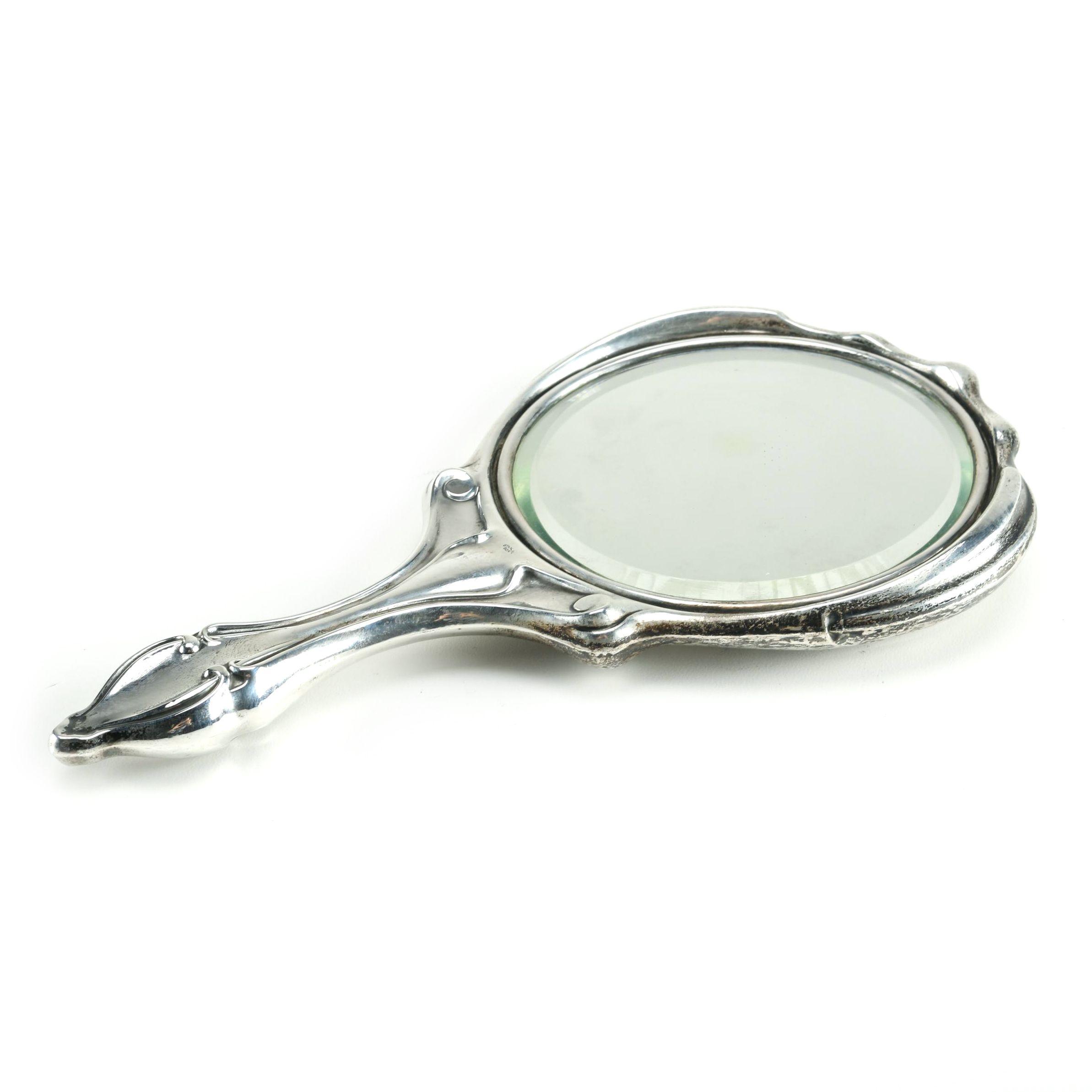 ornate hand mirror. Beveled Hand Mirror With Ornate Sterling Silver Frame Ornate Hand Mirror I