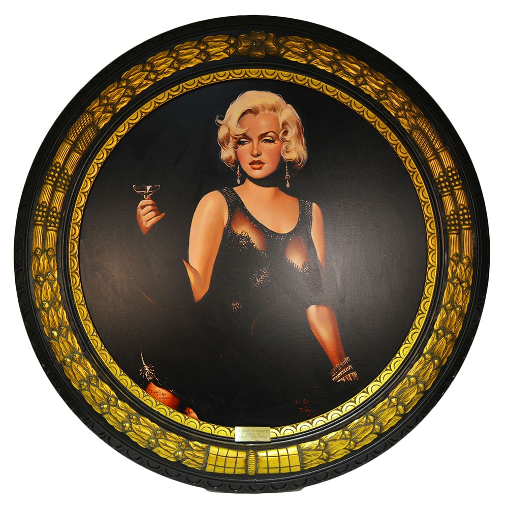 """Ralph Wolfe Cowan Painting """"A Toast To Marilyn"""""""