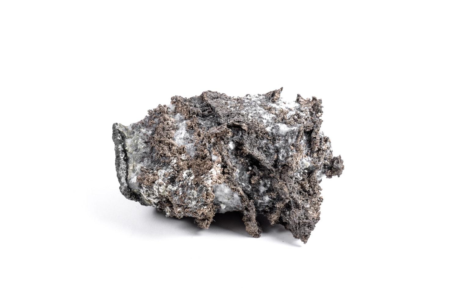Native Silver in Calcite Specimen