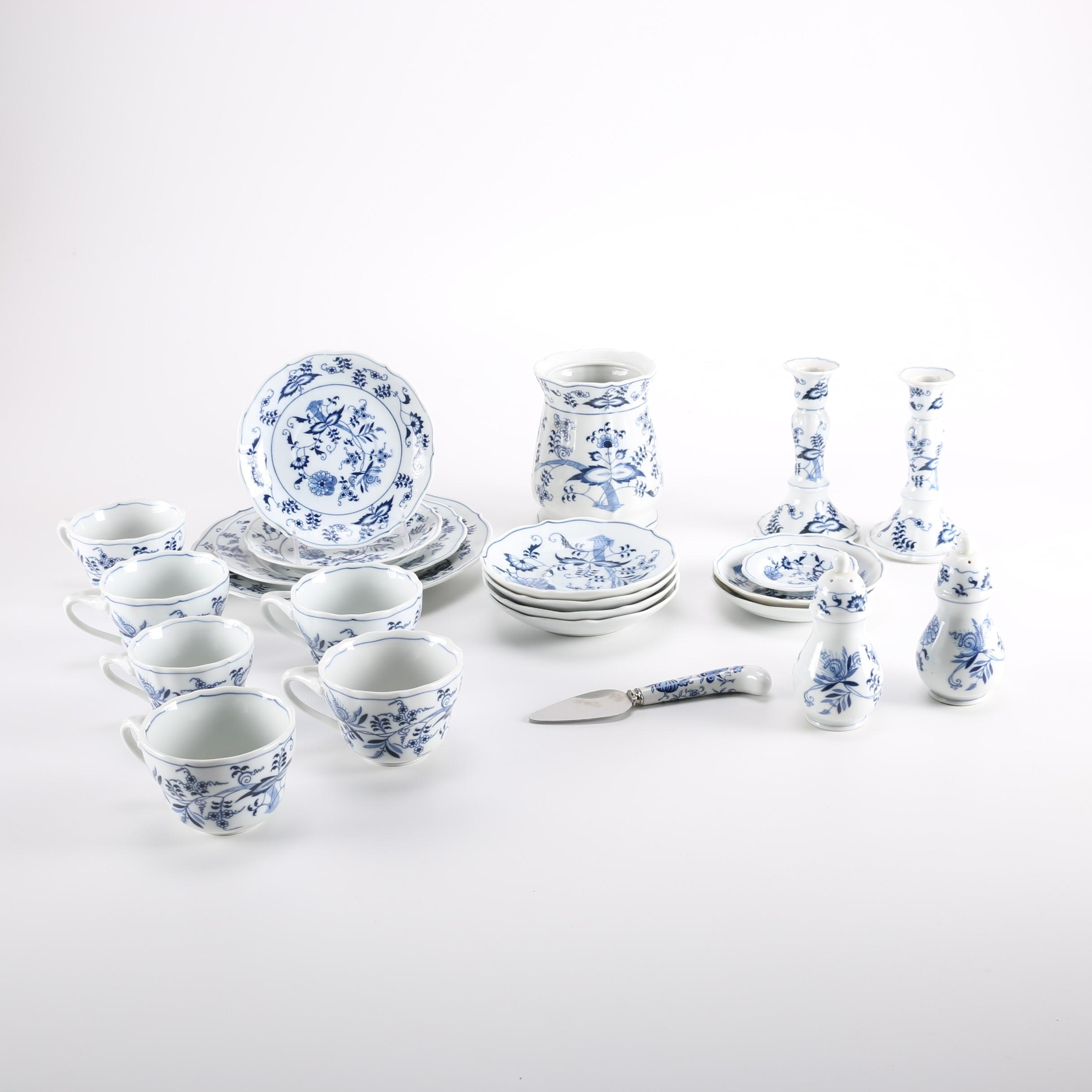 Vintage Set of Blue Danube China