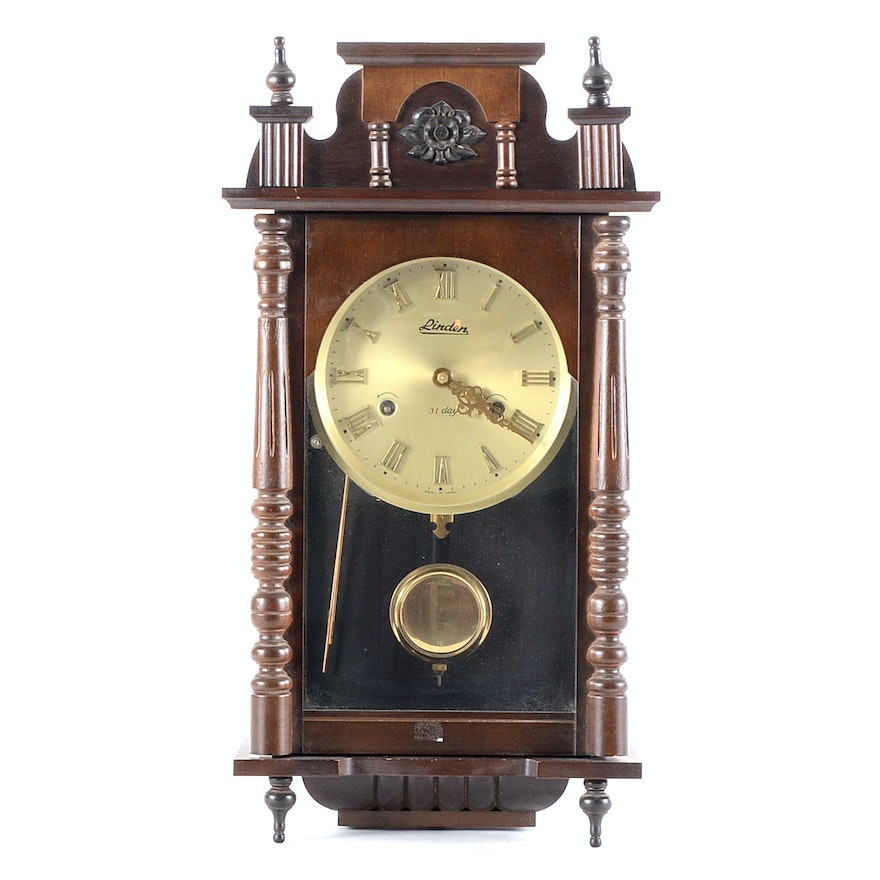 Linden 31 Day Chime Wall Clock Ebth