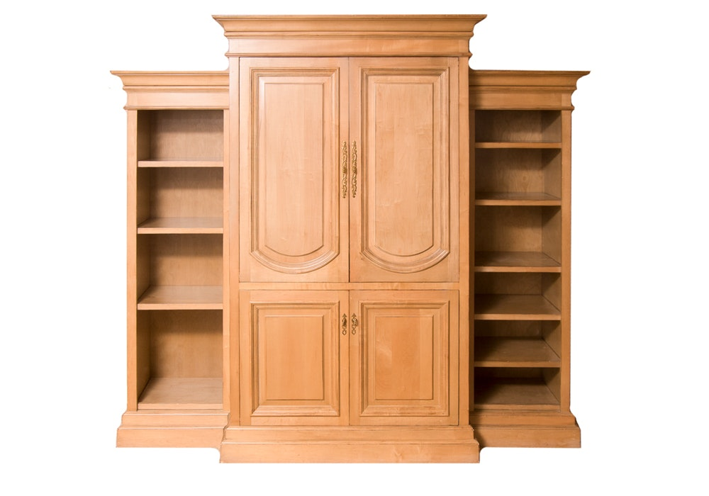 Entertainment Armoire with Bookcases