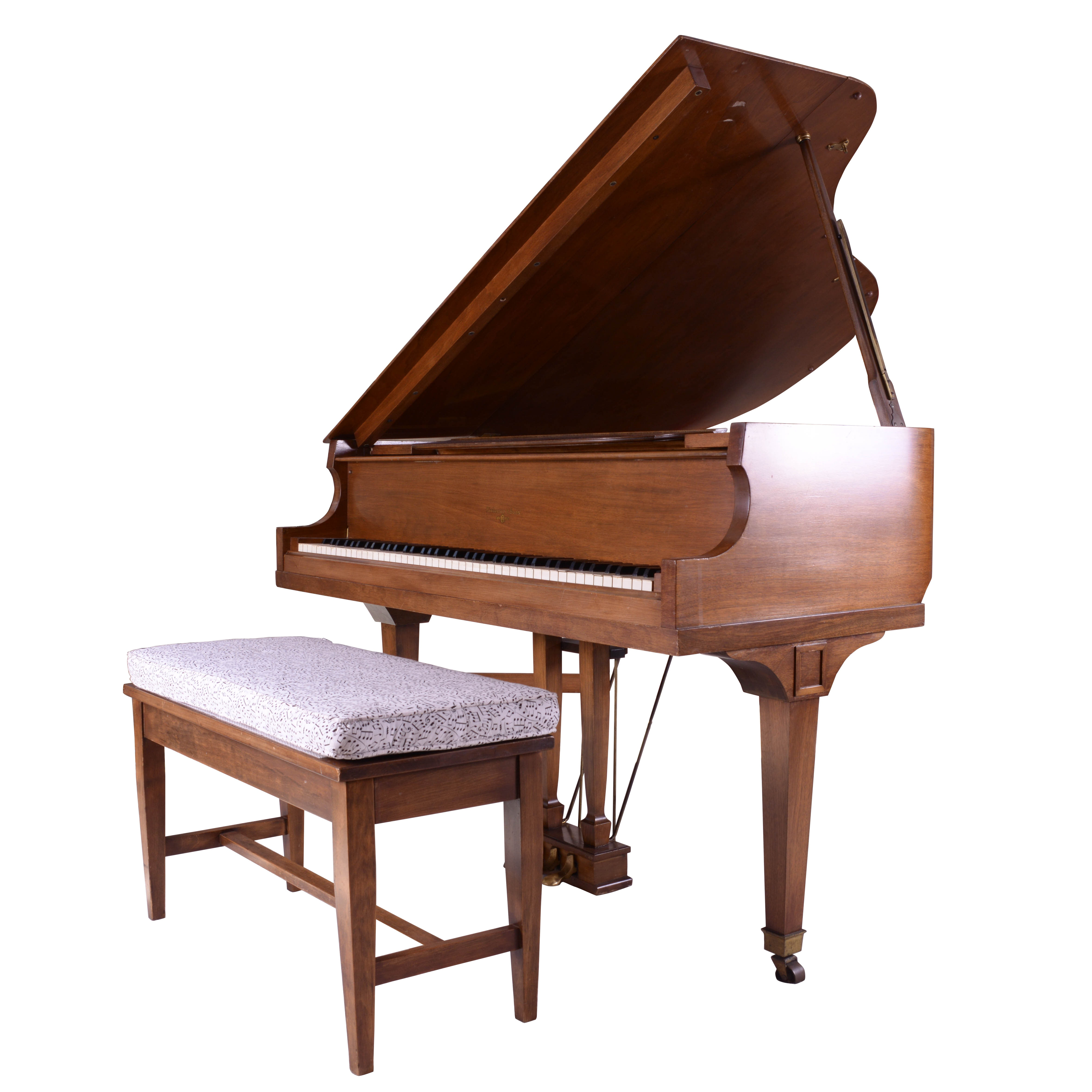 Lindeman and Sons Baby Grand Piano and Bench