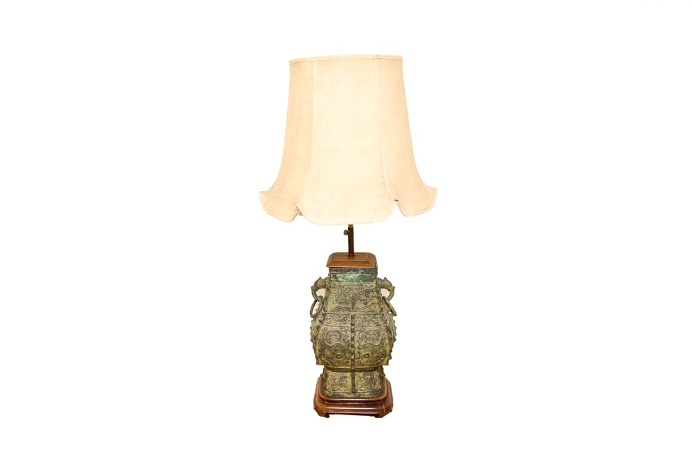 Chinese Ritual Bronze Style Table Lamp