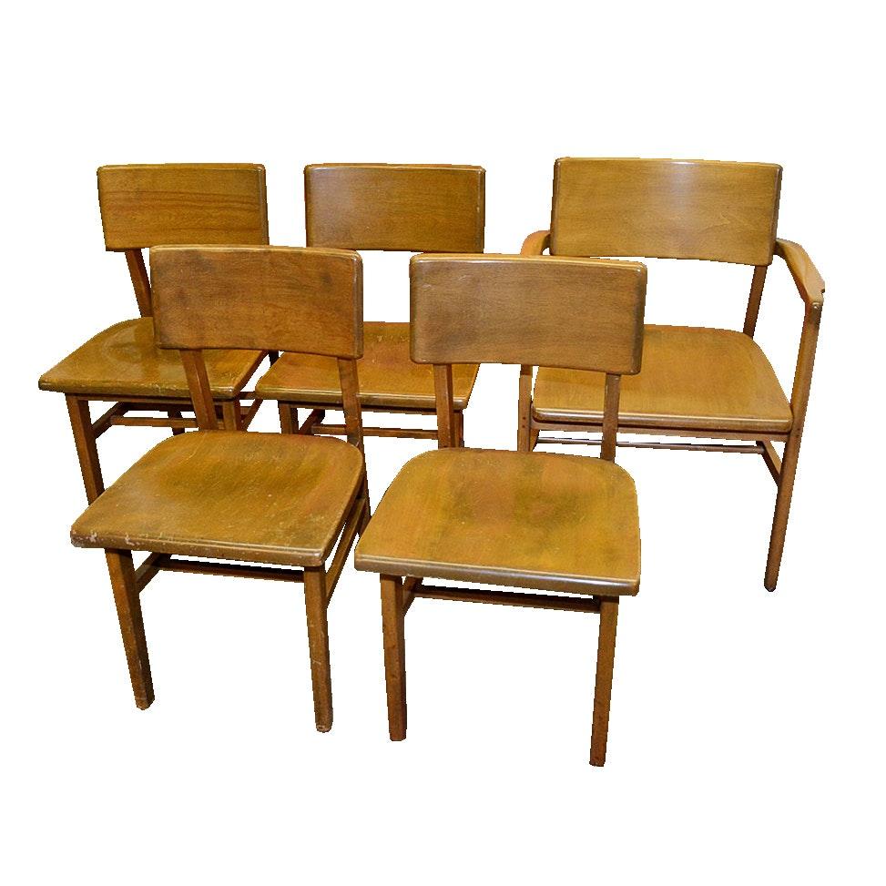 Mid Century Remington Rand Birch Chairs