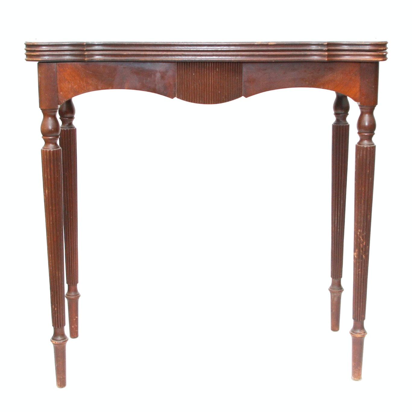 Vintage Mahogany Flip-Top Table