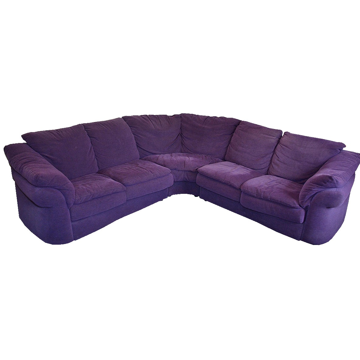 Natuzzi Purple Sectional Sofa