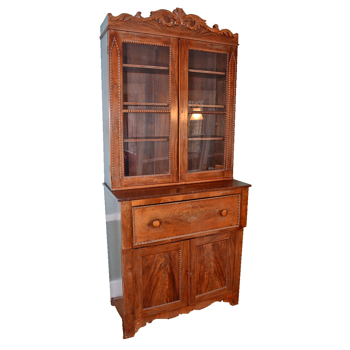 Antique Secretary Desk With Bookcase