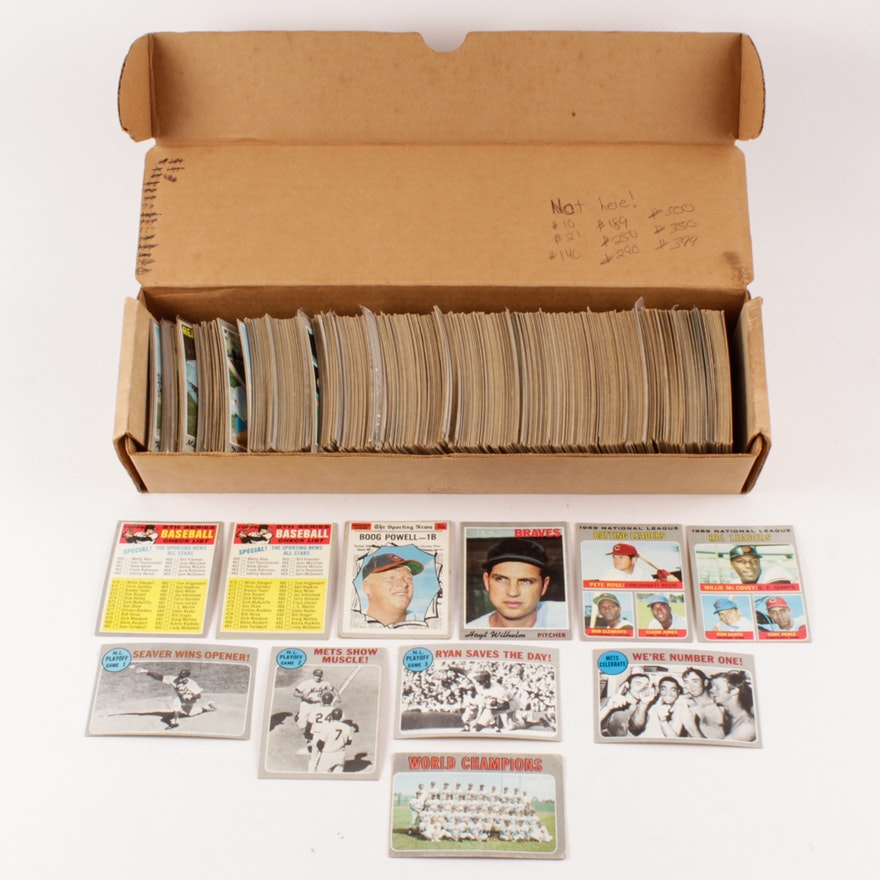 Almost Complete Set Of 1970 Topps Baseball Cards