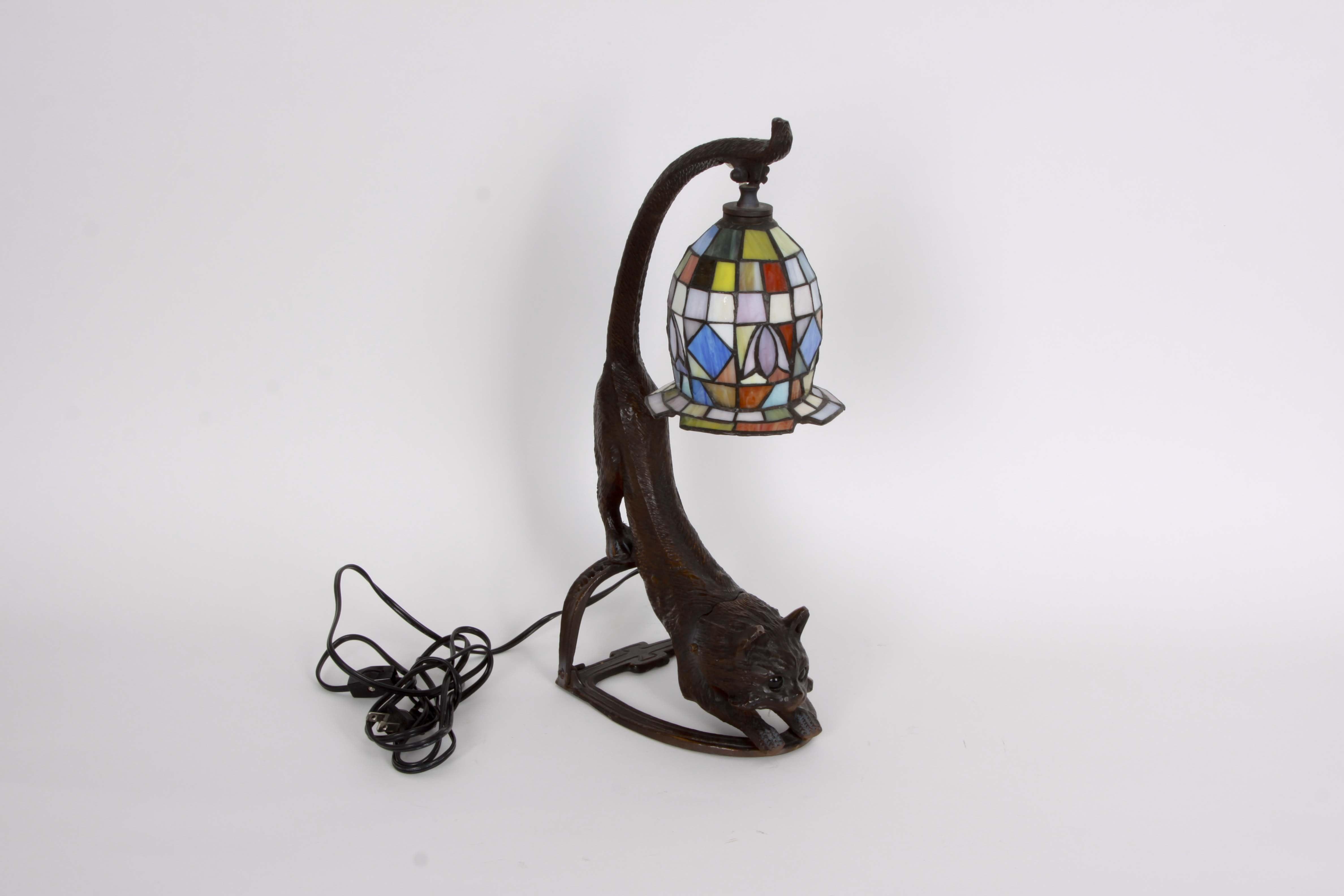 Tiffany Style Cat Lamp