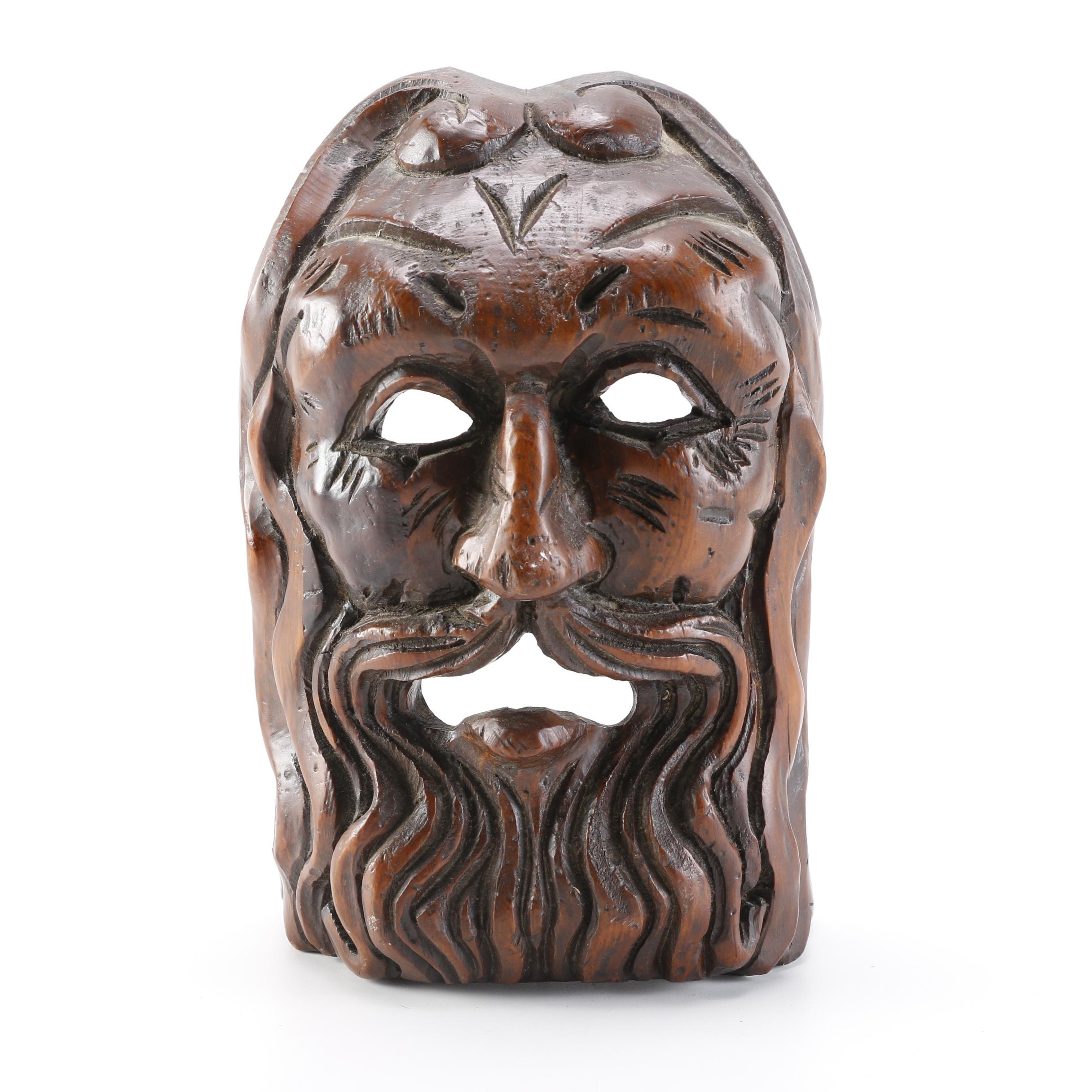Spanish Hand Carved Wood Mask