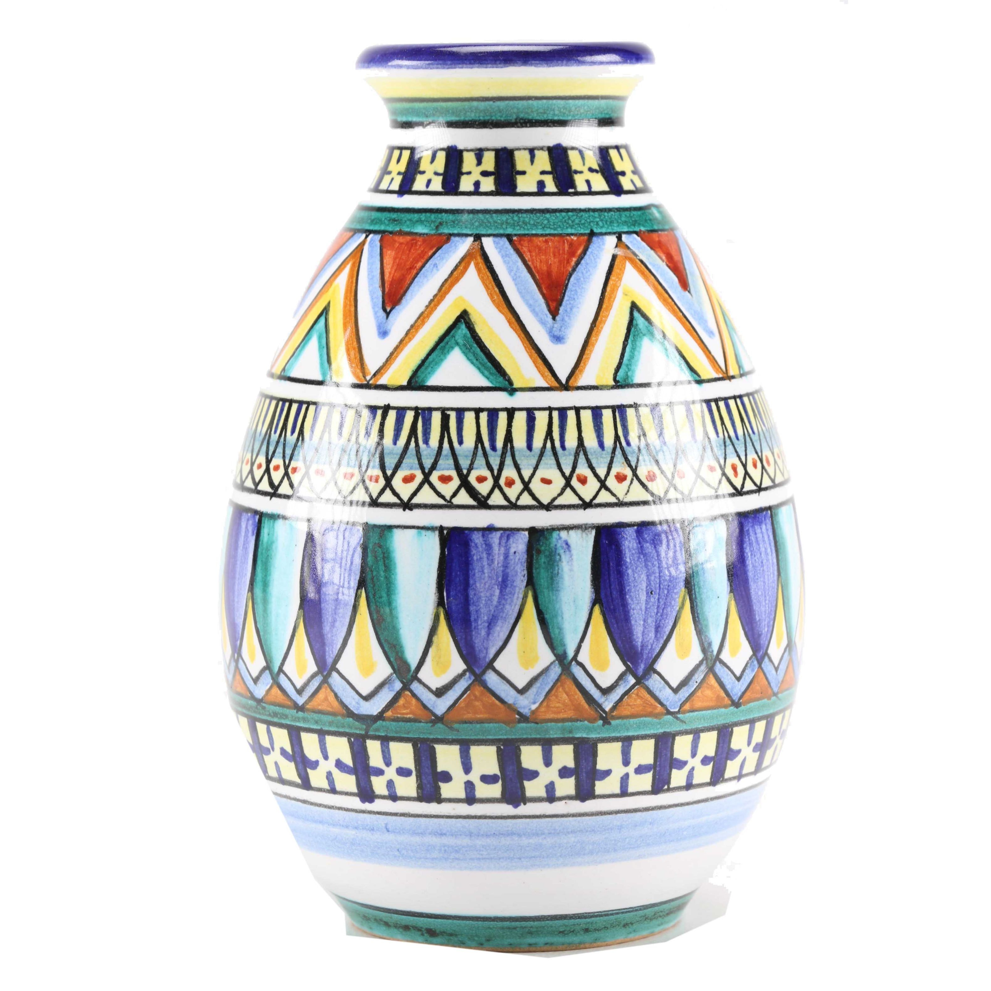 Handmade Italian Majolica Vase