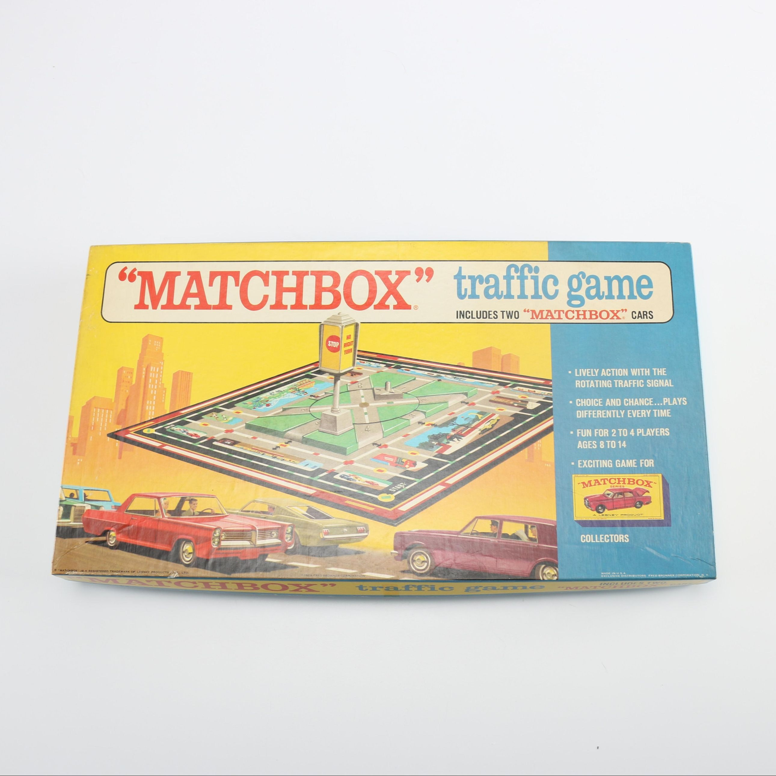 1968 Matchbox Traffic Game with Two Matchbox Cars