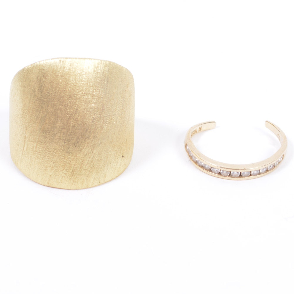 Pair of 14K Gold Rings