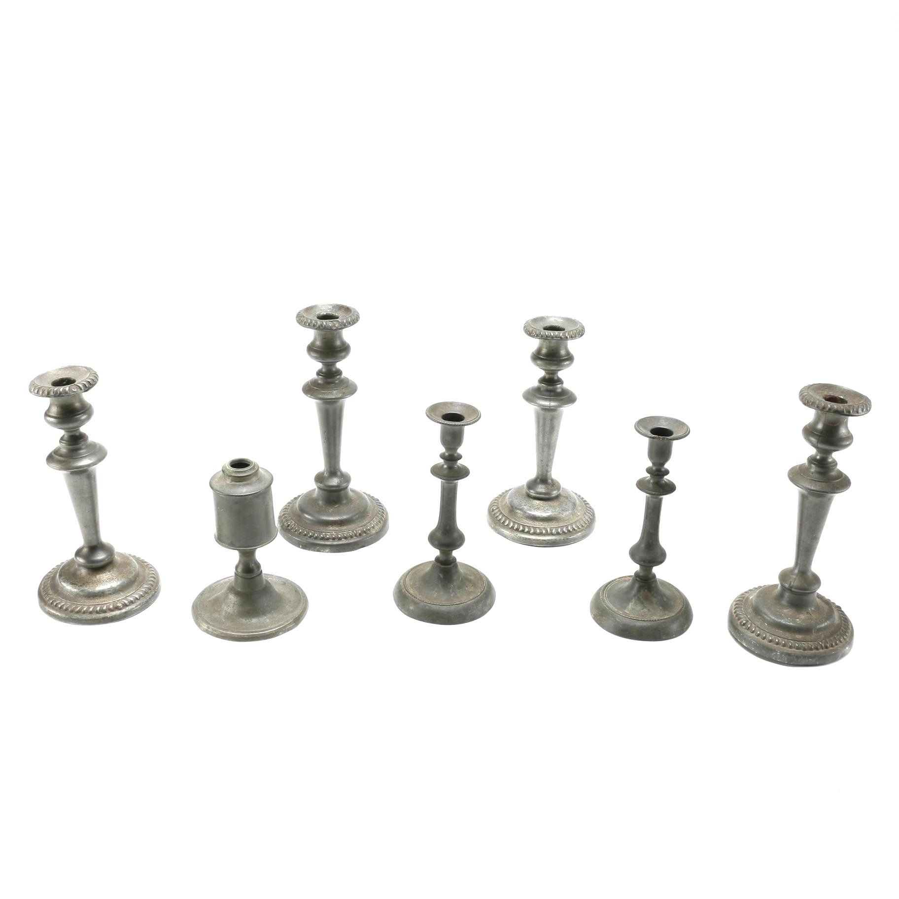 Pewter Candle Holder Assortment