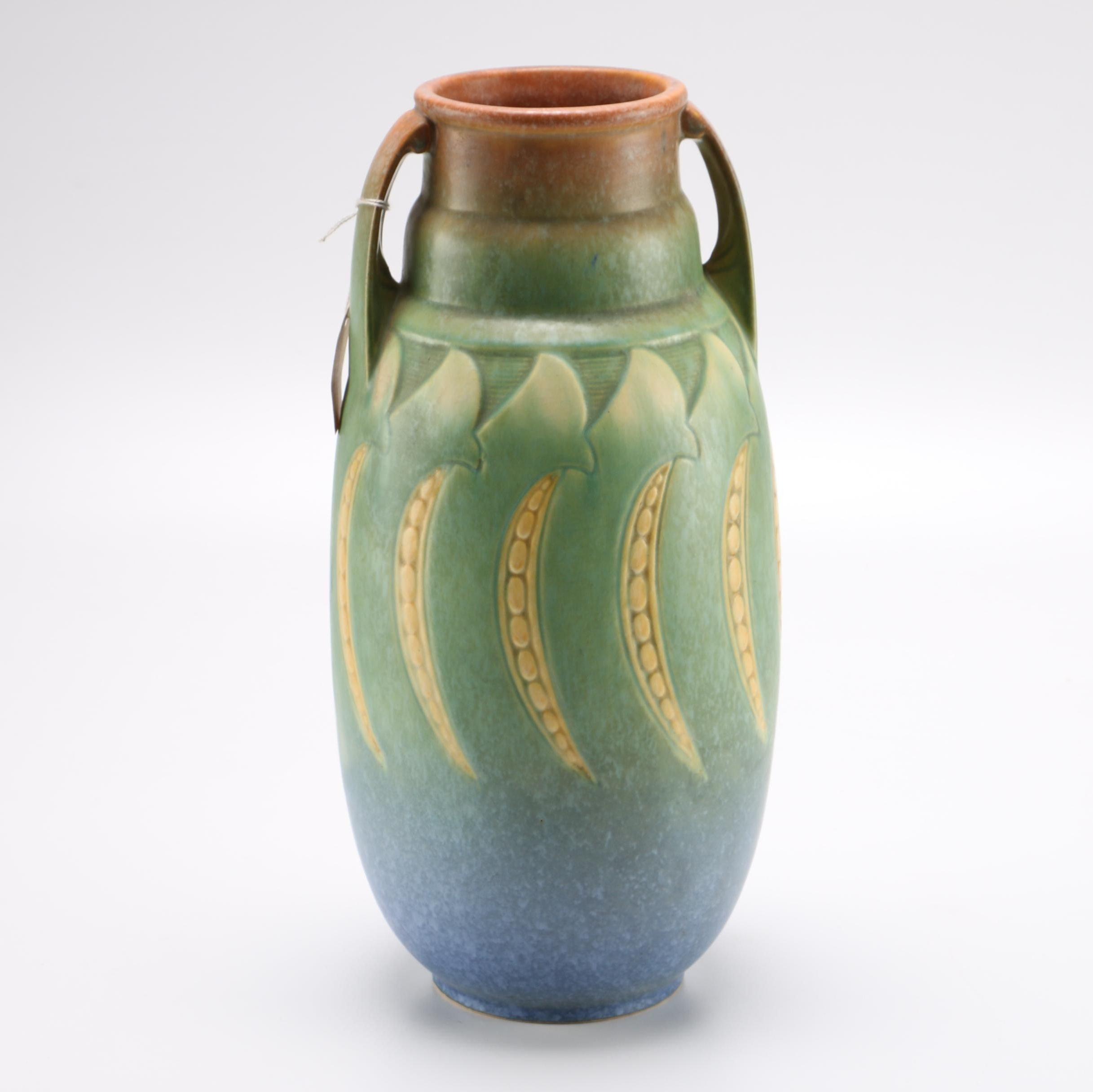 """Roseville Pottery """"Falline Blue"""" Vase"""