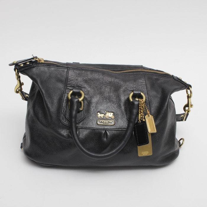 Coach Madison Sabrina Black Leather Handbag